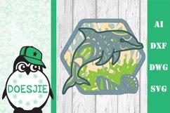 Dolphin SVG layered multi layer mandala sea animal nautical Product Image 10
