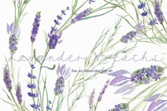Lavender wreaths watercolor clipart Product Image 4
