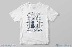 My best friend has paws Cat SVG Quote. Product Image 2