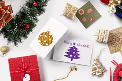 Christmas tree balls clipart,Gold christmas balls Product Image 4