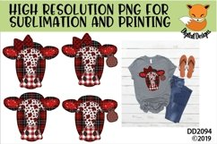Canadian Country Faux Patchwork Cow Sublimation Product Image 1