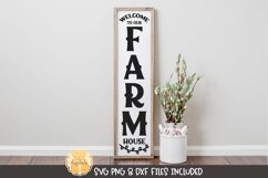 Vertical Porch Sign SVG   Welcome To Our Farmhouse Product Image 1