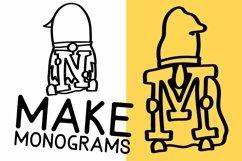 Web Font Gnome Friends Monogram Font - A-Z Letters Product Image 3