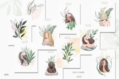 Watercolor abstract women collection Product Image 4