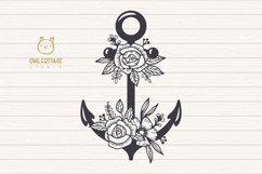 Anchor with Flowers SVG, Nautical Wedding Decor Cut File Product Image 2