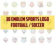 30 football / soccer emblem sports logo  Product Image 1