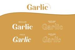 Garlic / Elegant font Product Image 2