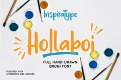 Hollaboi - A Hand-Drawn Brush Font Product Image 1