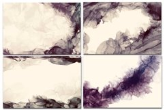 12 Dark Alcohol Ink Backgrounds. Product Image 4