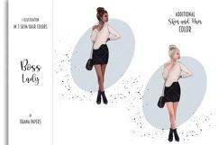 Boss Lady Clipart, Fashion Girl Illustration Product Image 2