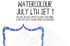 Watercolor July 4th Clip Art Set Product Image 3