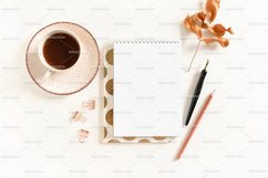 Spiral notepad mockup with stationery Product Image 1