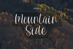 Mountain Side - A Lovely Handwritten Font Product Image 1