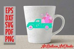 Valentines SVG Valentines Day Truck Svg Love Svg Valentine Product Image 6