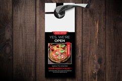 Pizza Resturant Door Hangers Product Image 1