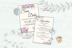 Wedding Invitation Set #12 Watercolor Floral Flower Style Product Image 3