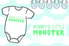 Mommy's Little Monster SVG, Funny Onesie, Little Monster Product Image 1