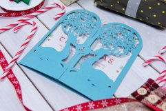 Christmas Reindeer Invitation cutting file Product Image 3