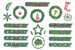 Watercolor Christmas Cars Clipart Product Image 5