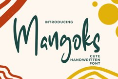 The Mangoks - Cute Handwritten Font Product Image 1