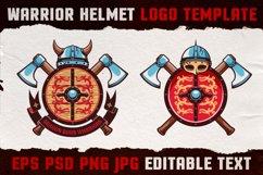 Warrior Viking Helmet Logo Template Product Image 1