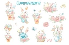 Easter Watercolor Clipart Product Image 3