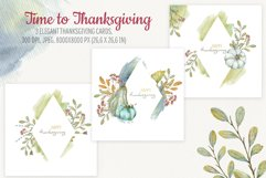Time to Thanksgiving. Watercolor Thanksgiving cards Product Image 1