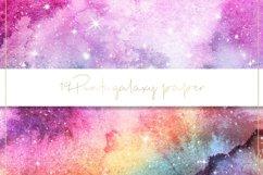 Galaxy watercolor digital paper Product Image 6