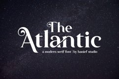 The Atlantic//Modern Serif Font Product Image 1