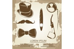 Getlemen style objects - cylinder, bow tie Product Image 1