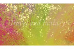 Abstract orange blurred background with golden sparks. Product Image 1