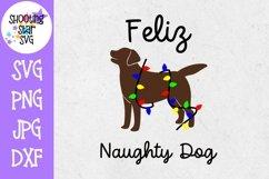 Feliz Naughty Dog SVG - Dog SVG - Christmas SVG Product Image 1