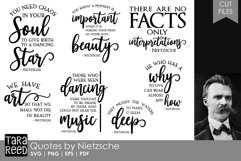 Friedrich Nietzsche Quotes - Quote SVG and Cut Files Product Image 1
