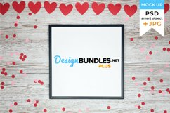 Valentine's Day Frame Mockup | JPG and PSD smart object Product Image 1