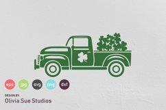 St Patricks Day Vintage Old Truck SVG Cut File Product Image 1