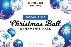 48 Christmas Ball Ornaments Pack 6 Colors Product Image 2
