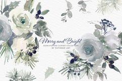 Christmas Watercolor Floral Clipart Collection Product Image 2