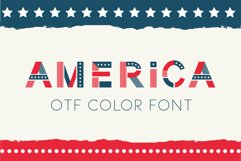 America otf color font Product Image 1