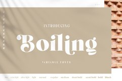 Boiling Variable Font Product Image 1