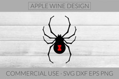 Black Widow Spider SVG DXF PNG EPS Cutting File Product Image 1