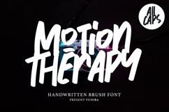 Motion Therapy   Handwritten Brush Font Product Image 1