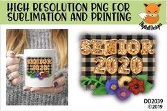 Senior 2020 Sublimation Product Image 1