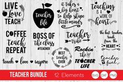 Teacher Bundle SVG, Teacher Quotes SVG,DXF, PNG Cut Files Product Image 1