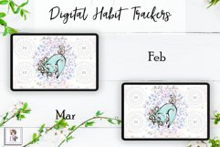 Digital Habit Trackers Y10 Yoga Series for Planner PRINTABLE Product Image 3