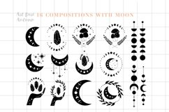 Moon phases svg, Celestial svg, Magic and Mystical svg Product Image 3