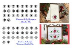 Christmas Holly Monogram & Split Alphabet Duo Product Image 2