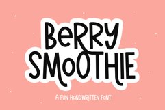 Berry Smoothie - A Fun Handwritten Font with Alternates Product Image 1