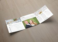 Wedding Planner Square Trifold Brochure Product Image 4