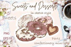 Sweets and Desserts. Mini set 1 Product Image 1