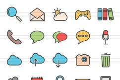 110 Mobile Interface Filled Line Icons Product Image 2
